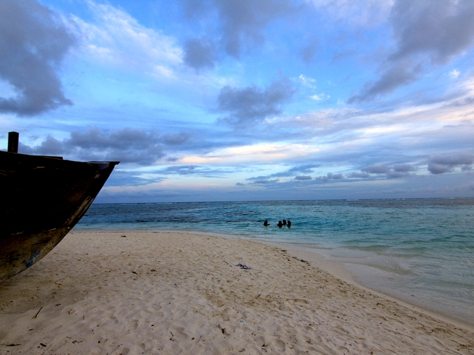 A beache at Maafushi