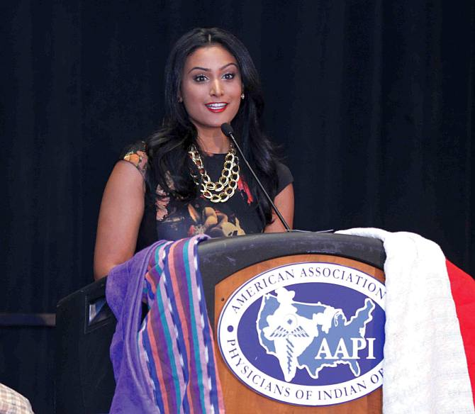 Miss America Nina Davuluri said she participated in beauty pageants to raise money to fund her education.