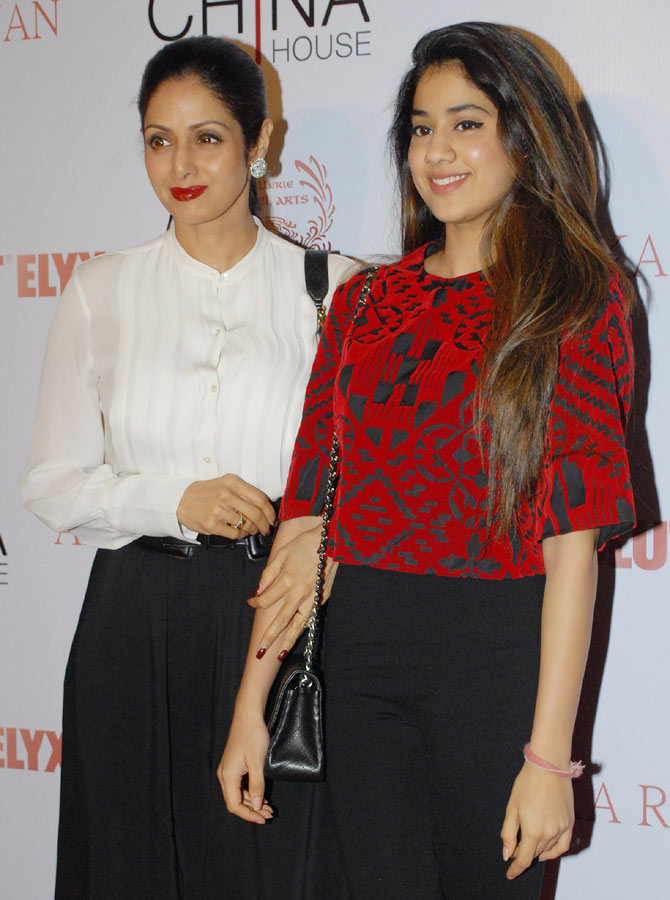 Sridevi with her daughter Jhanavi