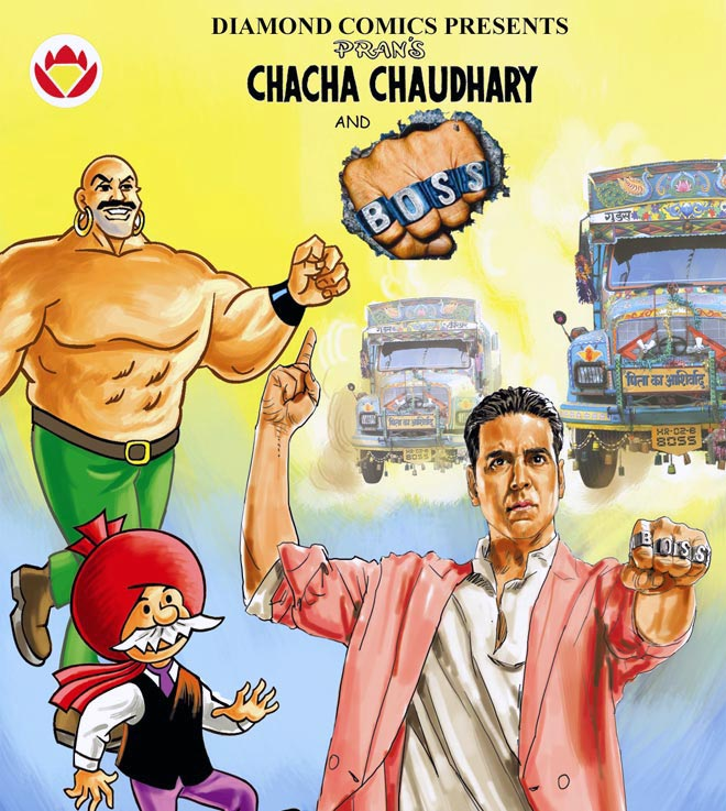 The special edition of Chacha Chaudhary's book to promote Akshay Kumar's movie Boss.