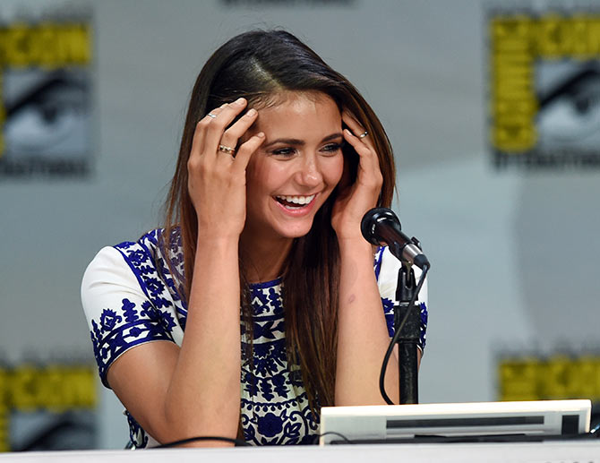 Actress Nina Dobrev attends CW's The Vampire Diaries panel during Comic-Con International 2014 at San Diego Convention Center on July 26, 2014 in San Diego, California.
