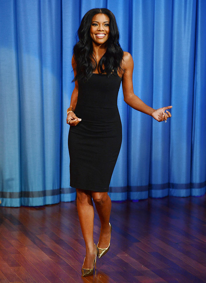 Gabrielle Union visits Late Night With Jimmy Fallon at Rockefeller Center on January 7, 2014 in New York City.