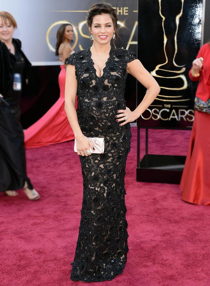Actress Jenna Dewan arrives at the Oscars at Hollywood & Highland Center on February 24, 2013 in Hollywood, California.