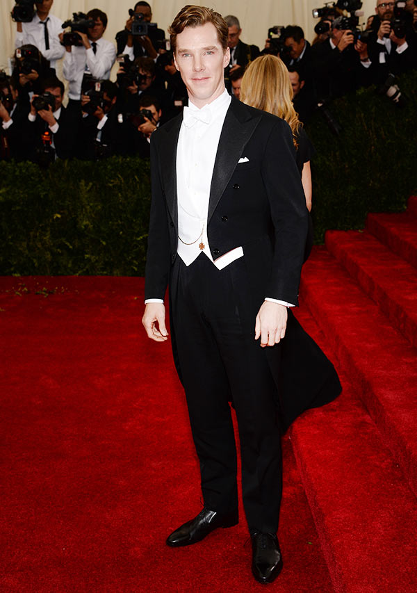 Actor Benedict Cumberbatch attends the 'Charles James: Beyond Fashion' Costume Institute Gala at the Metropolitan Museum of Art on May 5, 2014 in New York City.
