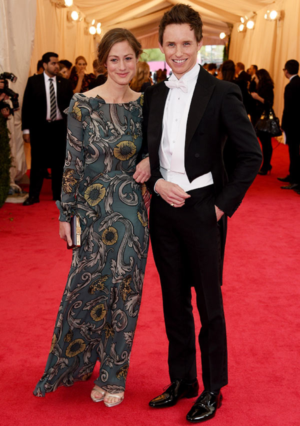 Actor Eddie Redmayne (R) and Hannah Bagshawe attend the 'Charles James: Beyond Fashion' Costume Institute Gala at the Metropolitan Museum of Art on May 5, 2014 in New York City.