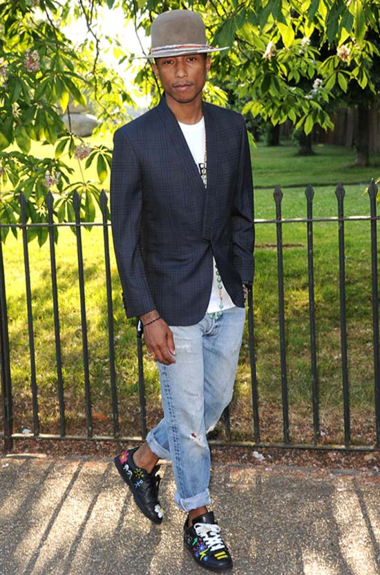 Pharrell Williams attends the annual Serpentine Galley Summer Party at The Serpentine Gallery on July 1, 2014 in London, England.