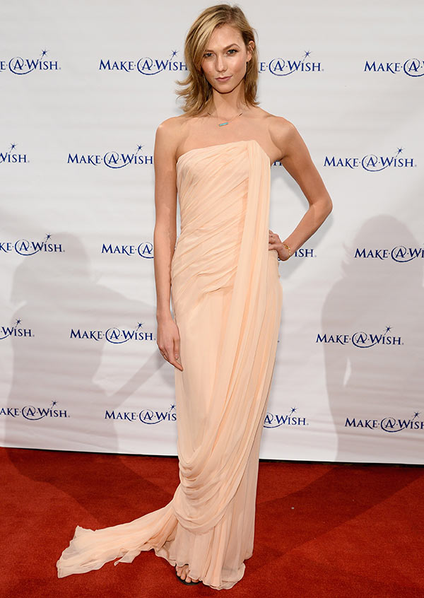 Model Karlie Kloss attends the Make-A-Wish Metro New York Annual Gala - An Evening of Wishes at Cipriani, Wall Street on June 12, 2014 in New York City.
