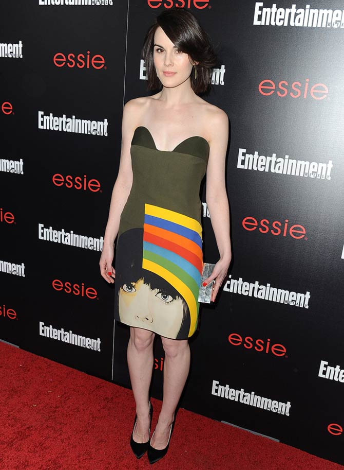 Actress Michelle Dockery attends the Entertainment Weekly celebration honoring this year's SAG Awards nominees sponsored by TNT & TBS and essie at Chateau Marmont on January 17, 2014 in Los Angeles, California.