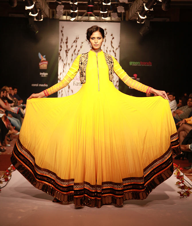 Mitali Rannorey in an Archana Kochhar creation.