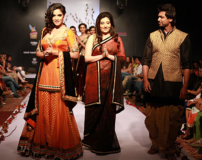Archana Kochhar (centre) is flanked by Richa Chadda and Nikhil Dwivedi