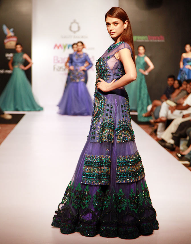 Aditi Rao Hydari in a Lalit Dalmia creation.