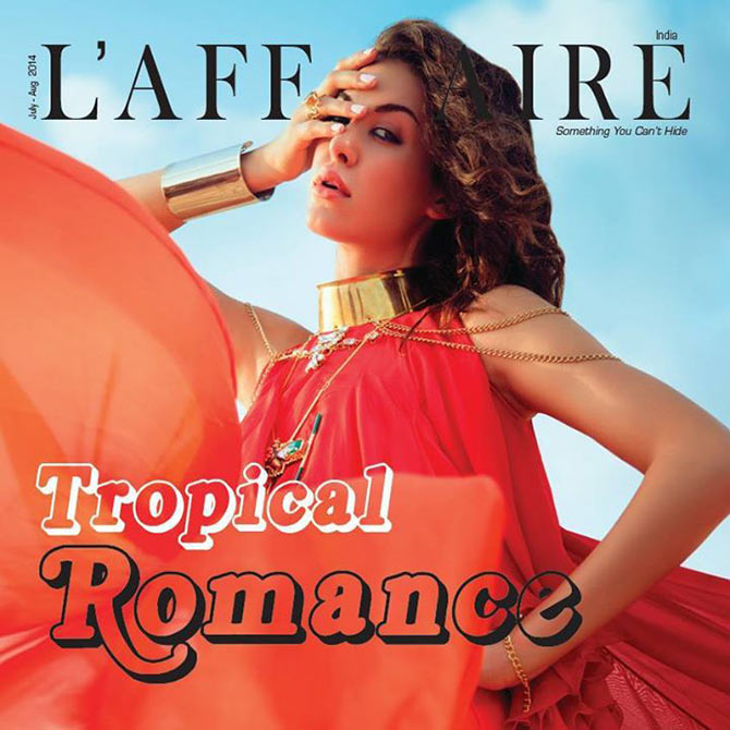 Alicia on the cover of L'Affaire magazine