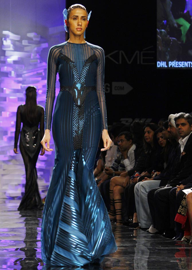Alesia Raut in an Amit Aggarwal creation.