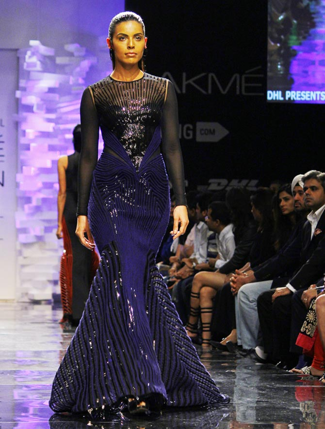 Deepti Gujral in an Amit Aggarwal creation