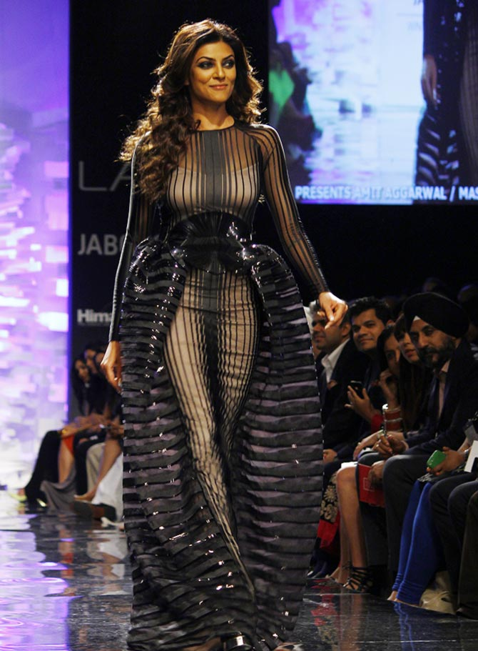 Sushmita Sen in an Amit Aggarwal creation.