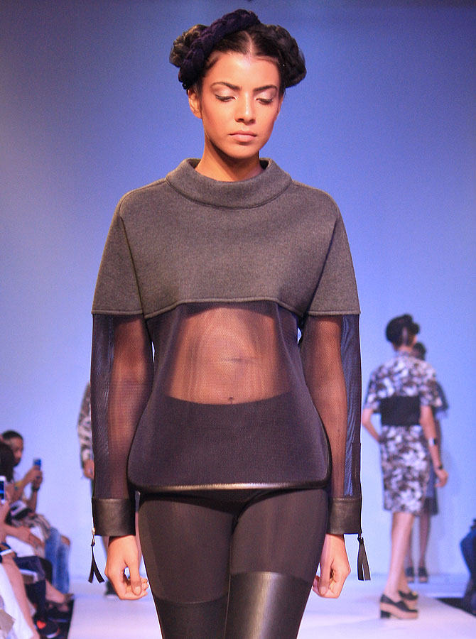 A model in a Dhruv Kapoor creation.