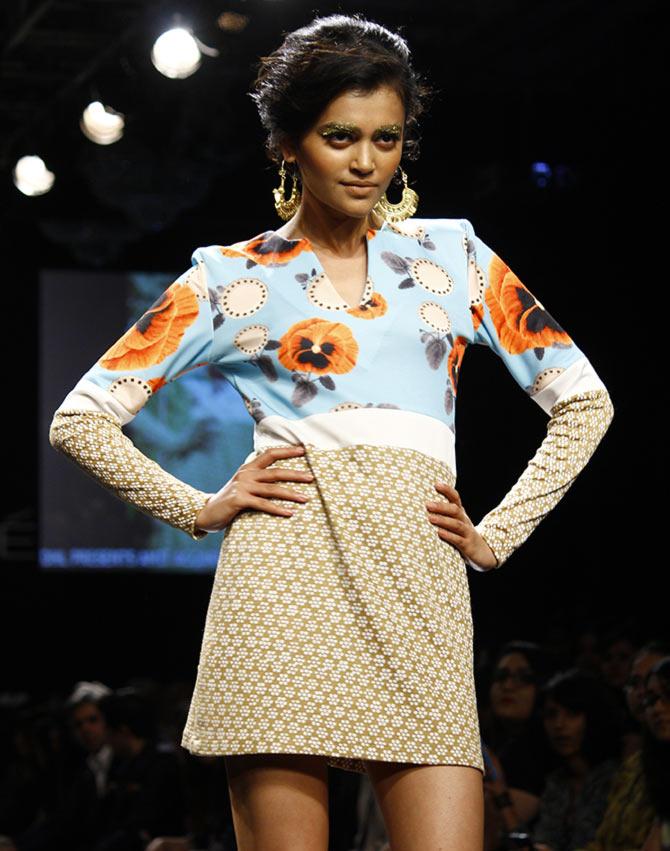 Natasha Ramachandran in a Masaba Gupta creation.