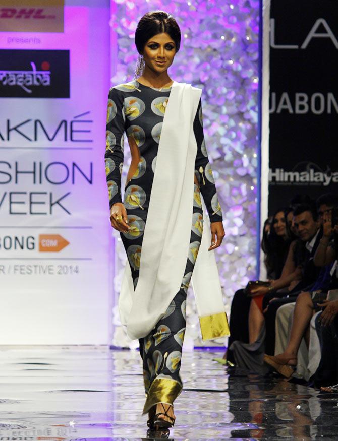 Shilpa Shetty in a Masaba Gupta creation.