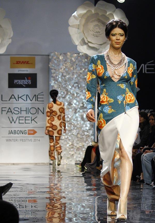 Sucheta Sharma in a Masaba Gupta creation.