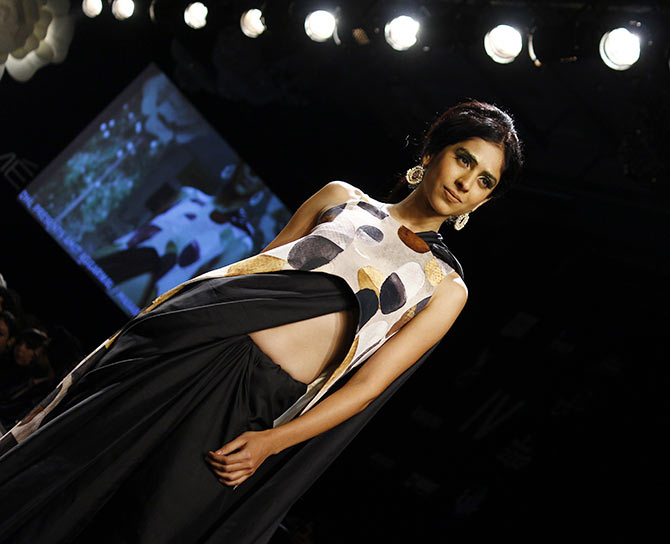 A model in a Masaba Gupta creation.