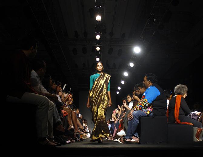 A model in a Sanjay Garg creation.
