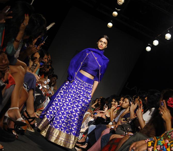 Model Anita Kumar in a Sanjay Garg creation.