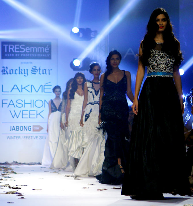 Diana Penty in a Rocky S creation.