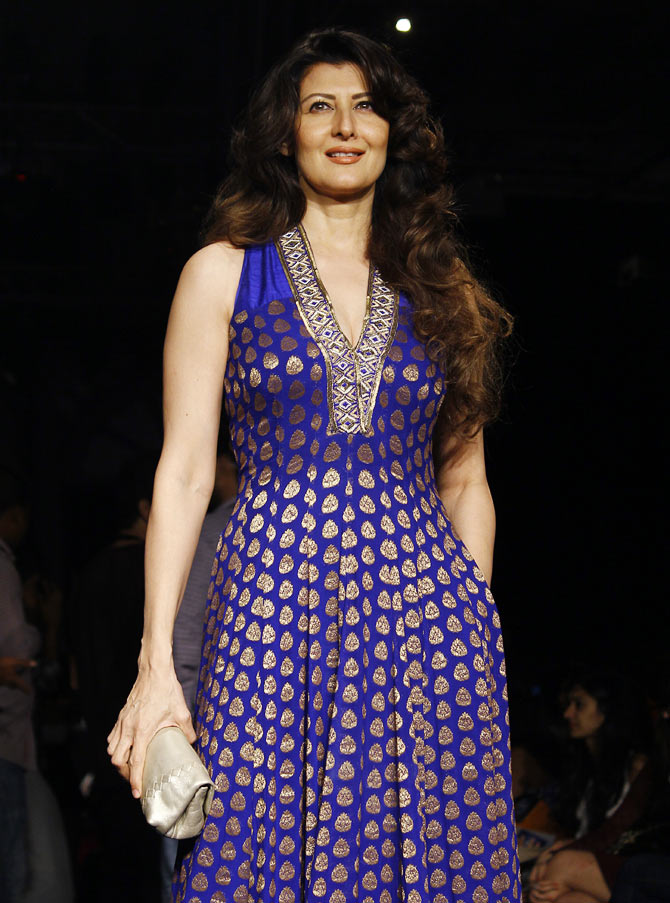 Sangeeta Bijlani at Lakme Fashion Week Winter/ Festive 2014.