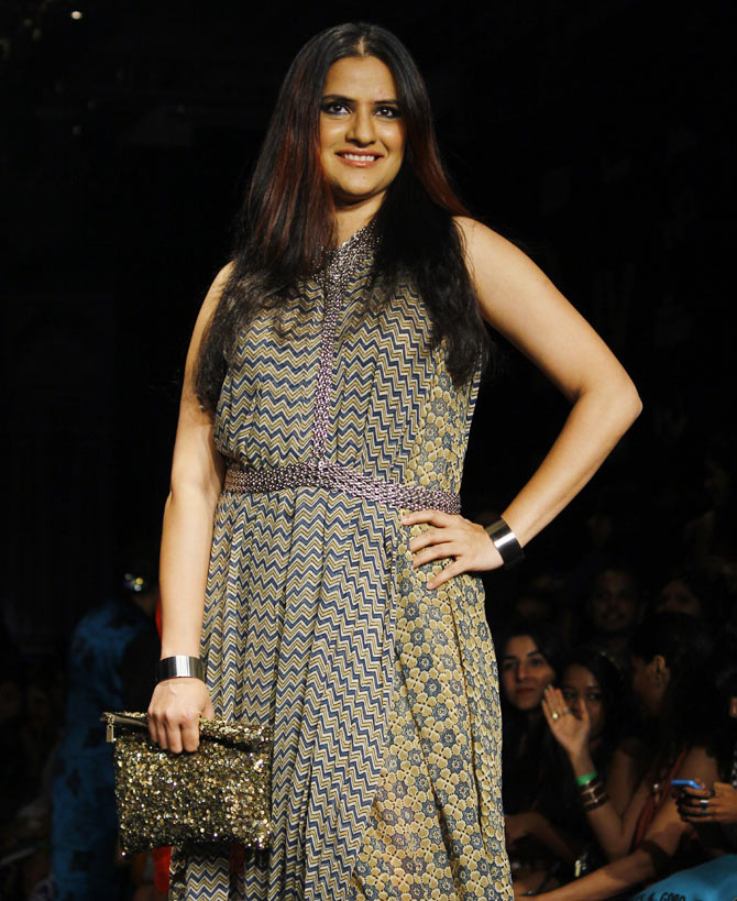 Sona Mohapatra at Lakme Fashion Week Winter/ Festive 2014.