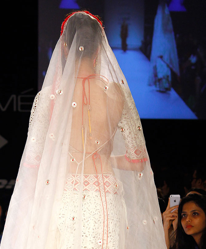 A model in a Vaishali S creation.