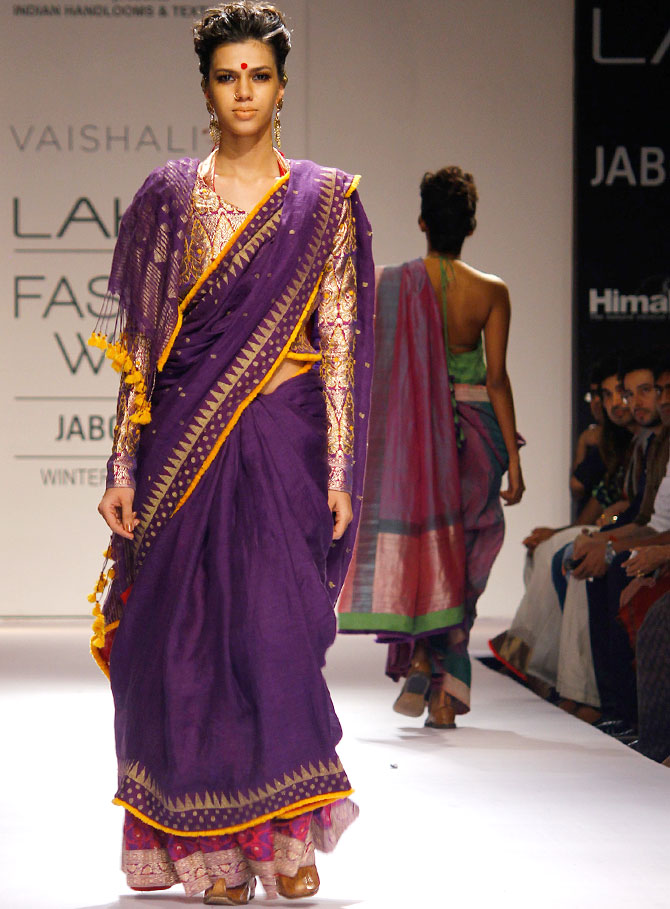 Model Anita Kumar in a Vaishali S creation.