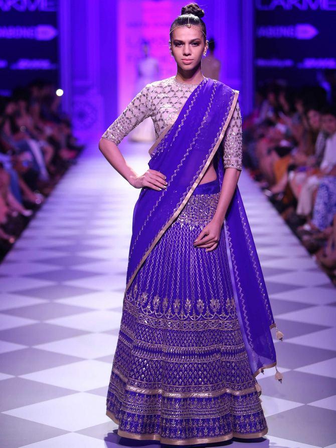 Anita Kumar in an Anita Dongre creation