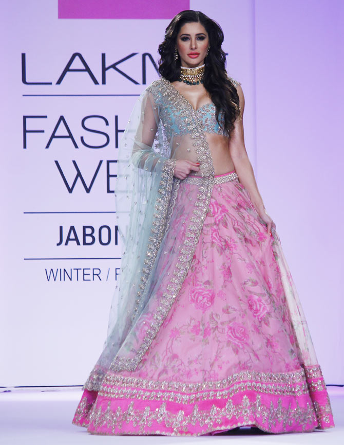 Nargis Fakhri in an Anushree Reddy creation.