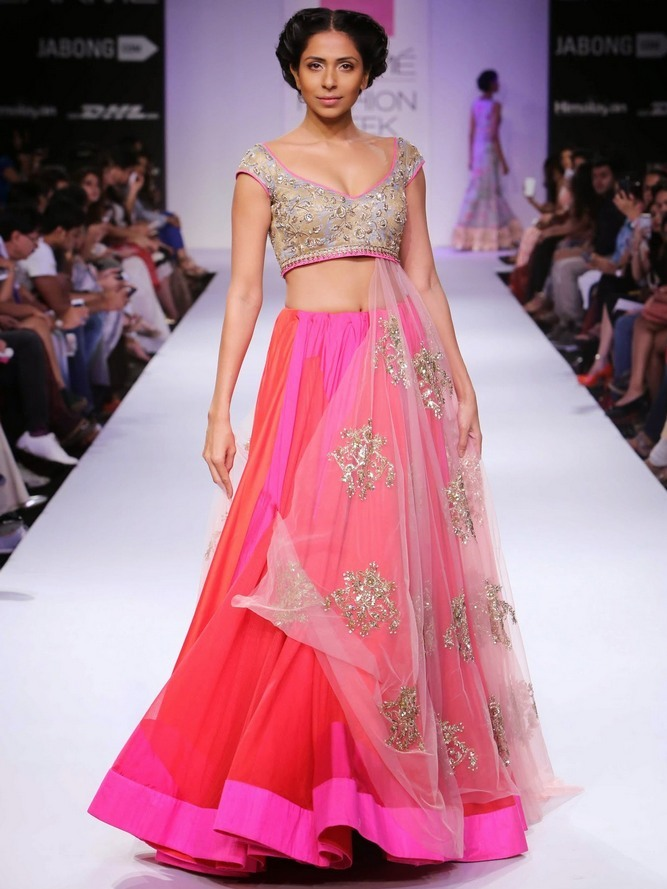 Candice Pinto in an Anushree Reddy creation.