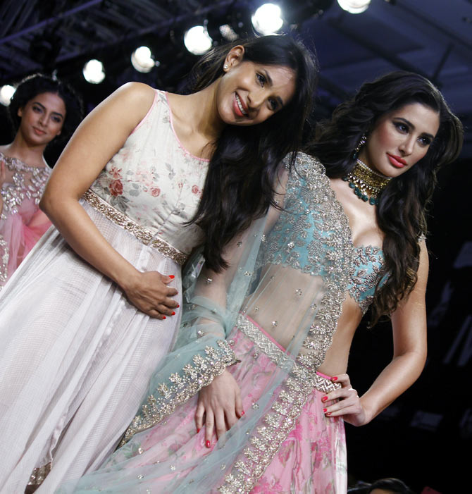 Anushree Reddy with Nargis Fakhri