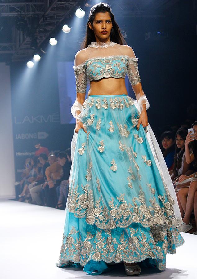 Pooja Mor in a Shehla Khan creation