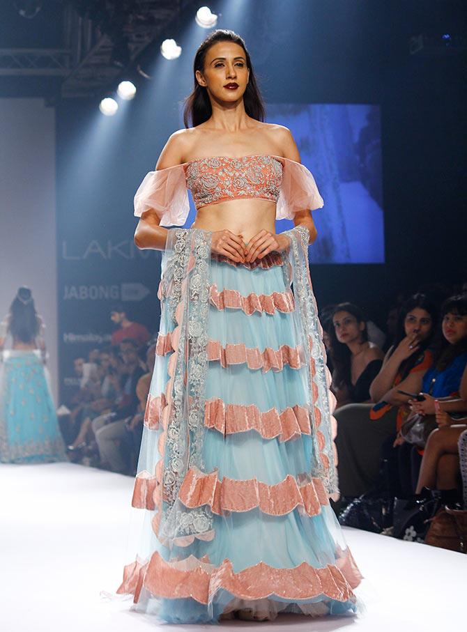 Alesia Raut in a Shehla Khan creation