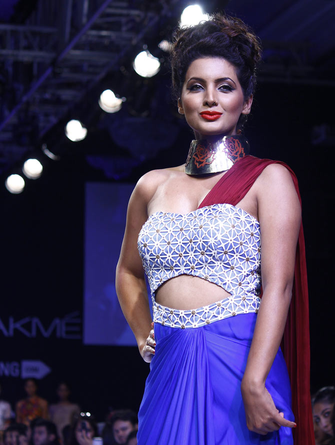 Geeta Basra in a Sougat Paul creation.