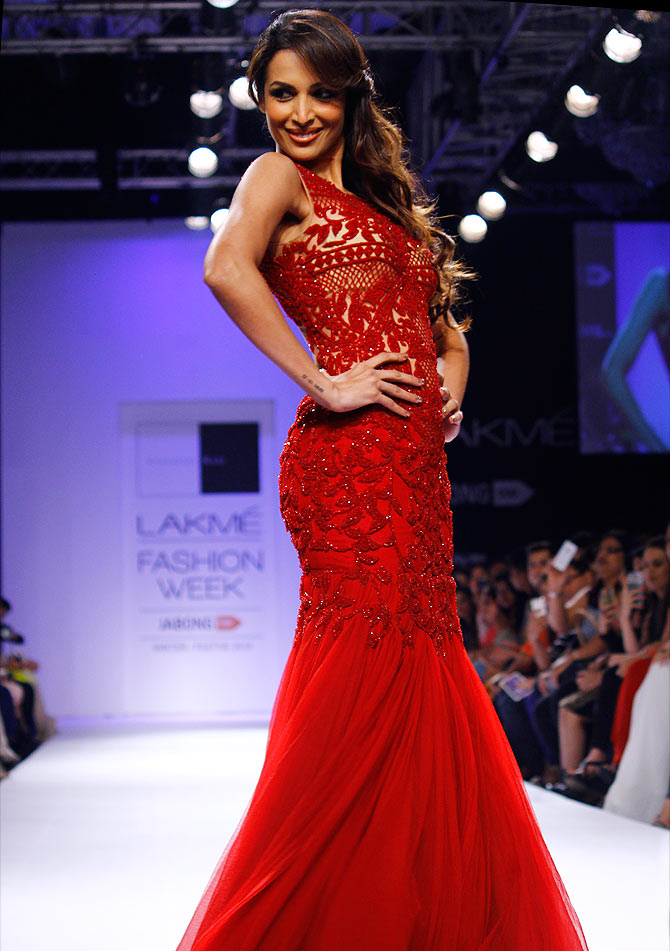 Malaika Arora Khan in a Sonaakshi Raaj creation.