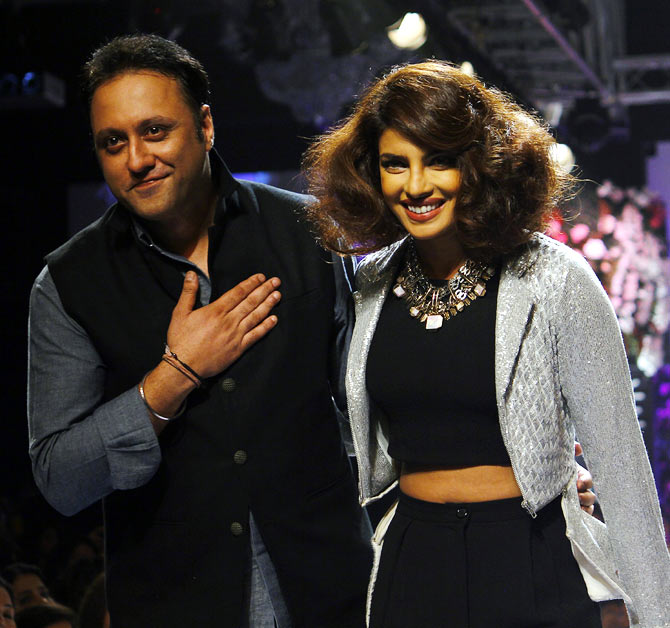 Varun Bahl takes a bow with Priyanka Chopra