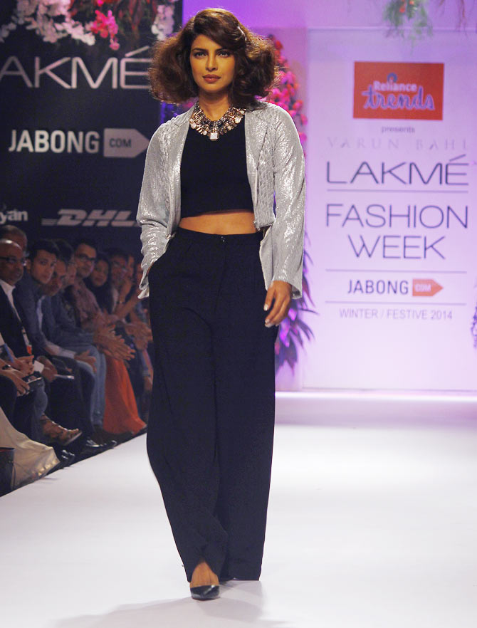 Priyanka Chopra walks the ramp for Varun Bahl
