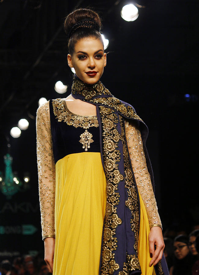 A model in a Vikram Phadnis creation.