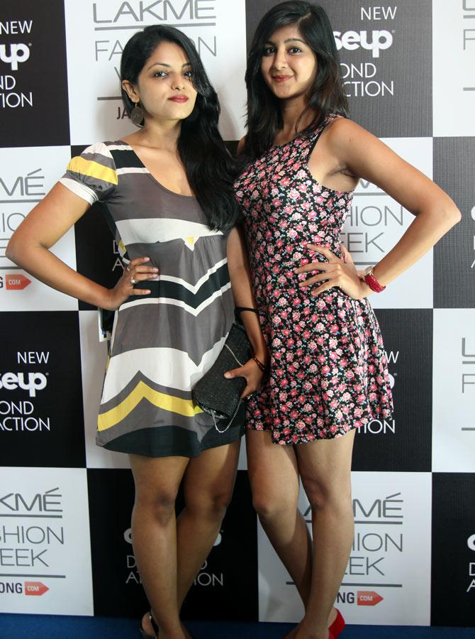 Karishma Kotian and Rasika Nathu at Lakme Fashion Week Winter/ Festive 2014.