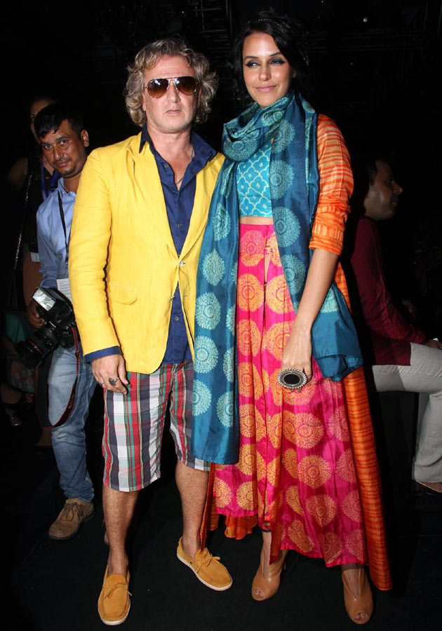 Rohit Bal and Neha Dhupia
