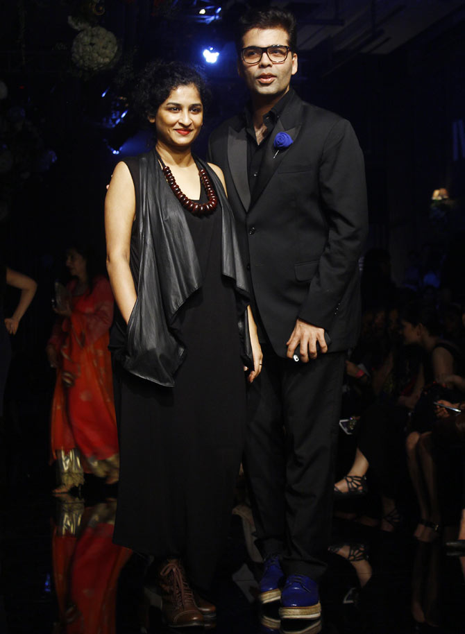 Karan Johar and Gauri Shinde