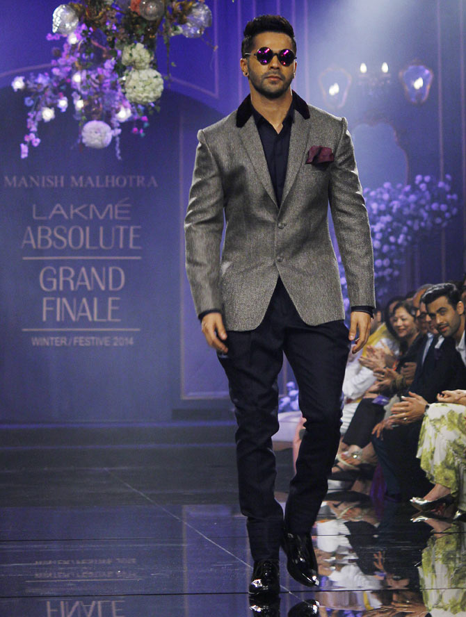 Varun Dhawan walks for Manish Malhotra