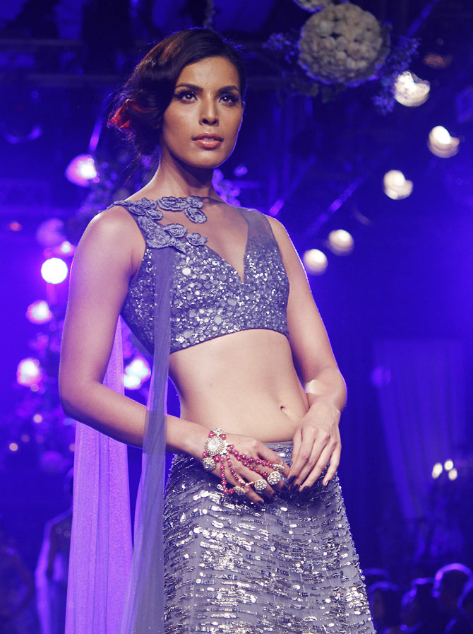 Deepti Gujral walks the ramp for Manish Malhotra