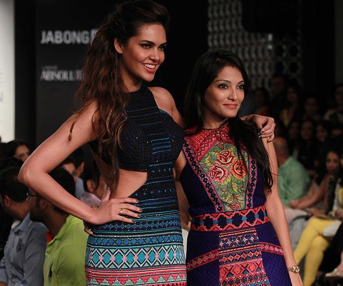 Esha Gupta with Neha Agarwal
