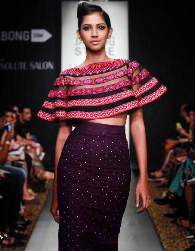 A model walks the ramp for Neha Agarwal