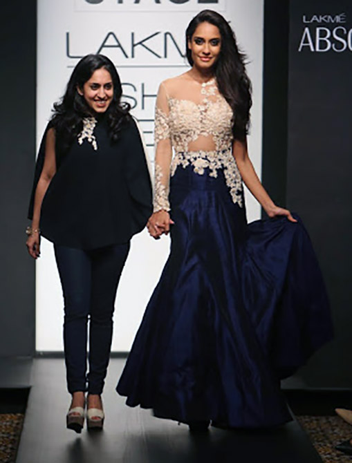 Ridhi Mehra with Lisa Haydon